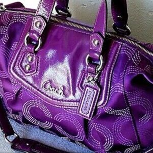 💜Coach Ashley Signature Op Art Satchel